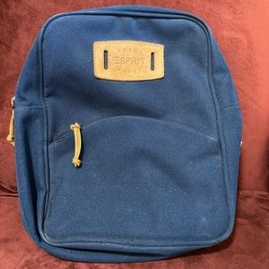Vintage Esprit Rough & Ready navy canvas backpack